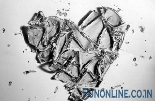 broken n cracked ice hearts