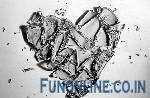broken n cracked ice hearts